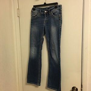 Silver Suki Jeans Waist 28